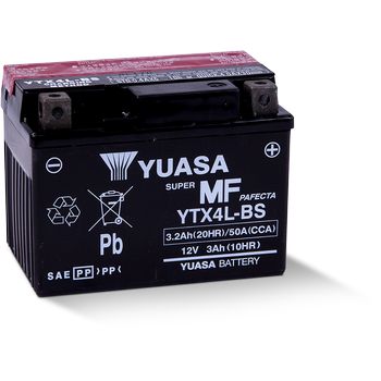 Kawasaki KLX110/L Akü (2003 - 2019) Yuasa YTX4L-BS 12V3,2 AH
