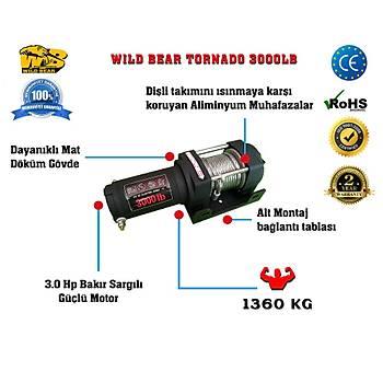 Wild Bear Tornado 3000lb Tekne-Atv-Utv Offroad Vinç Uzaktan Kumandalý