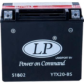 LP YTX20-BS 12V18AH Bakýmsýz AGM Motosiklet Aküsü