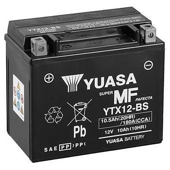 Aprilia Tuono 1000R (2002 - 2010) Yuasa YTX12-BS 12V10 AH Bakýmsýz AGM