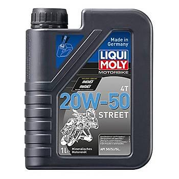 Liqui Moly 20W-50 Basic Street 4T Mineral Cadde Motosiklet Yaðý 1L