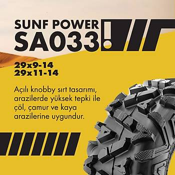 SunF 29x11-14 SA-033 Power 6PR Atv-Utv Arka Lastik