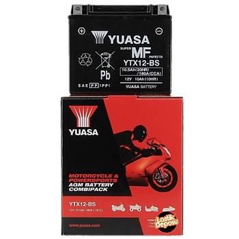 Yuasa YTX12-BS 12V10 AH Bakýmsýz Motosiklet ve ATV Aküsü