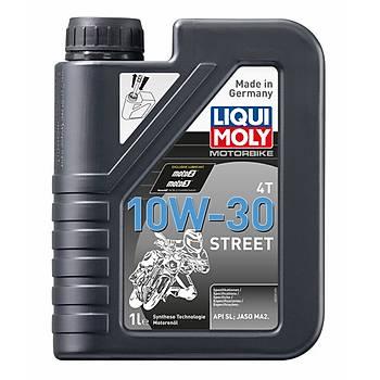 Liqui Moly 10W-30 Street 4T Sentetik Motor Yaðý 1L