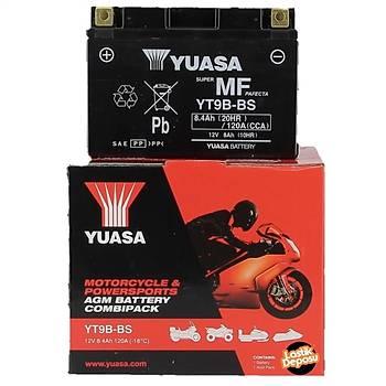 Yuasa YT9B-BS 12V8AH Bakýmsýz AGM Motosiklet Aküsü