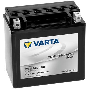 Varta YTX14L-BS 12V12AH AGM Motosiklet Aküsü