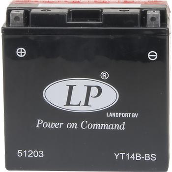 LP YT14B-BS 12V12AH Bakýmsýz AGM Motosiklet Aküsü