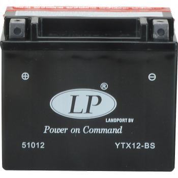 LP YT12A-BS 12V11AH Bakımsız AGM Motosiklet Aküsü