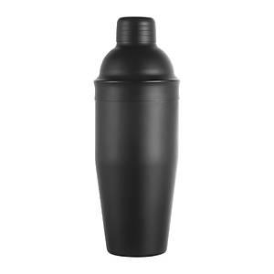 Biradlý Çelik Kokteyl Shaker Siyah