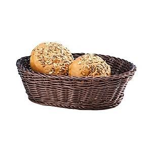 Orta Oval Plastik  Ekmek Sepeti (Açýk-Koyu)