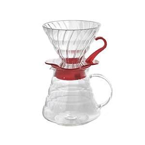 """Hario V60 02 Cam Kahve Demleme Kiti """"K�rm�z�"""""""