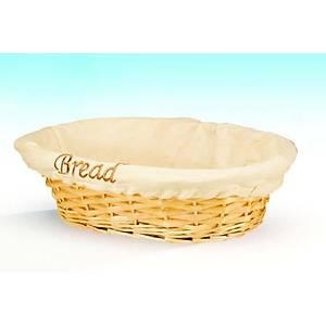 Hasýr Ekmek Sepeti Bezli Oval