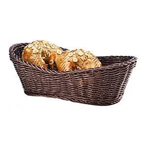 Büyük Oval Plastik  Ekmek Sepeti (Açýk-Koyu)