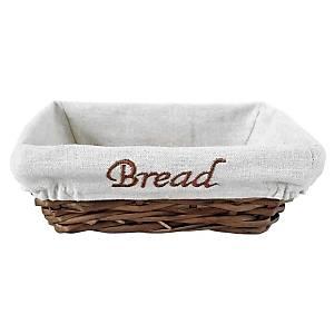 Biradli Dikdörtgen Bezli Hasýr Ekmek Sepeti