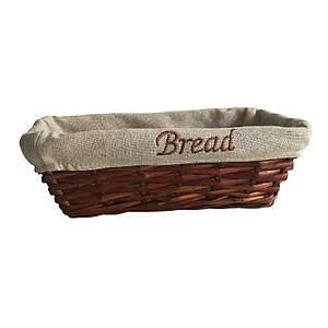 Biradlý Bezli Ekmek Sepeti Dikdörtgen