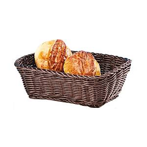 Dikdörtgen Plastik Ekmek Sepeti (Açýk-Koyu)