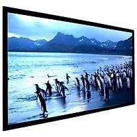 FullScreen Fixed Frame Projeksiyon Perdesi (3D Gümüþ), 300x169