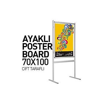 Ayaklý Poster Pano 70X100 Çift Taraf