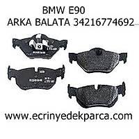 Bmw 3Seri E90 Kasa Fren Balatasý Arka