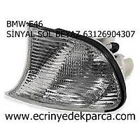 BMW E46 SİNYAL SOL BEYAZ 63126904307