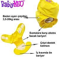 Elastik TEK BEDEN Sızdırmaz Bebek Bezi Külodu - COVER - Sarı