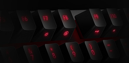 G910 close up section showing of keys