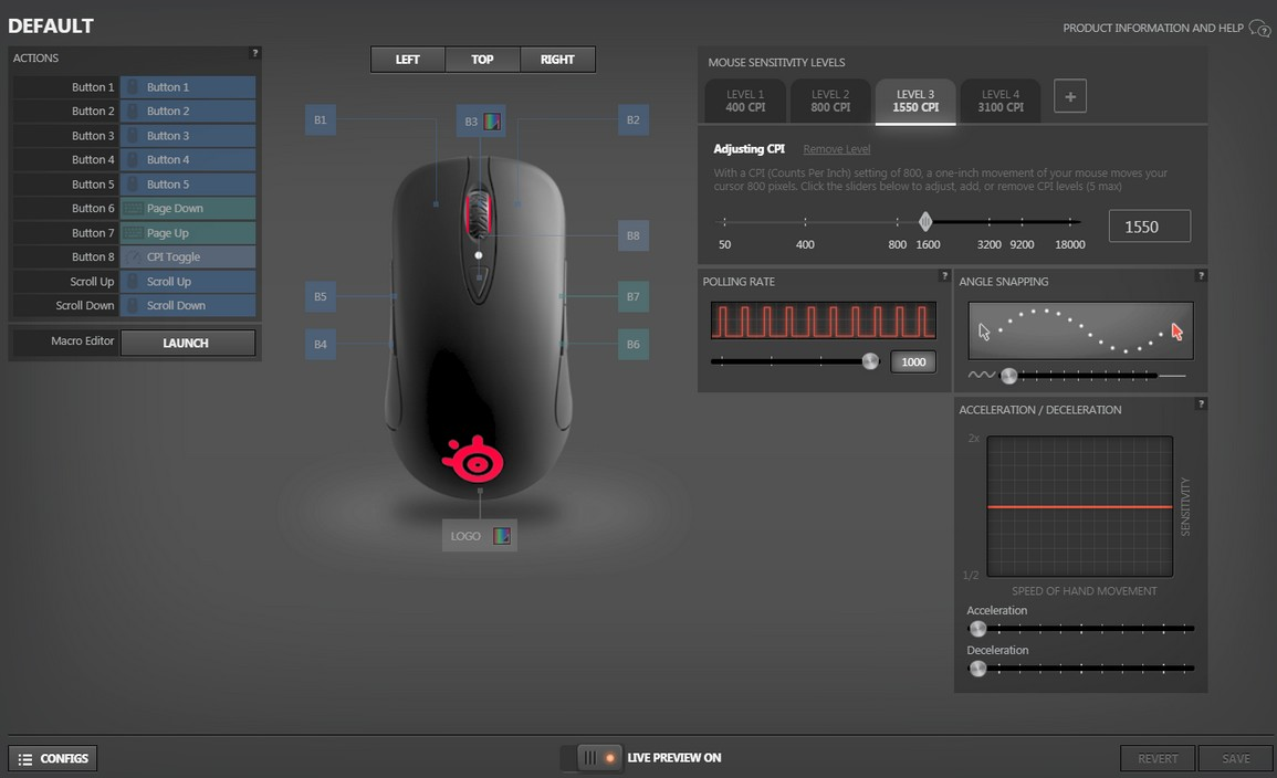 SteelSeries Sensei Ten Mouse