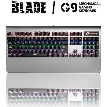 GameBooster G9 Blade RGB Aydýnlatmalý Bileklikli Mekanik Klavye (GB-G9)