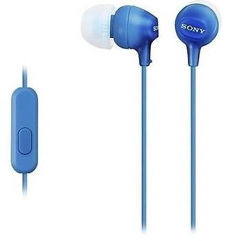 Sony MDR-EX15APL Kulakiçi Mavi Kulaklýk