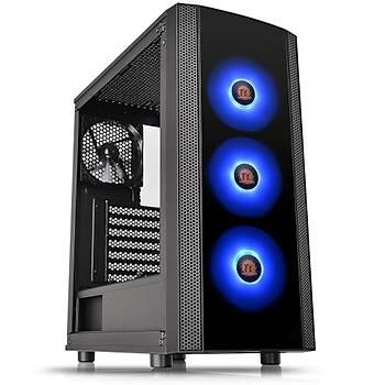 Thermaltake Versa J25 Tempered Glass RGB 120mmx3 Fanlý Siyah MidTower Oyuncu Kasasý (PSU Yok) (CA-1L8-00M1WN-01)