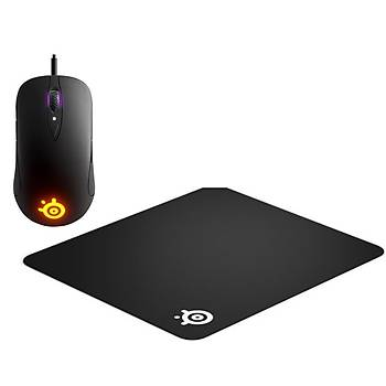SteelSeries Sensei TEN RGB Gaming Mouse + QcK Medium Mouse Pad