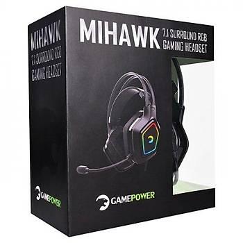 Gamepower Mihawk 7.1 Surround Rgb Oyuncu Kulaklýðý Siyah