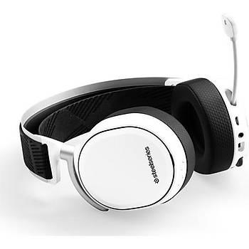 SteelSeries Arctis Pro Hi-Res Wireless Kablosuz Oyuncu Kulaklýðý Beyaz