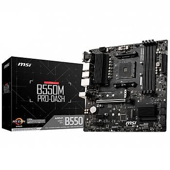 MSI B550M PRO-VDH WIFI 4400MHz(OC) DDR4 Soket AM4 M.2 HDMI DP VGA mATX Anakart