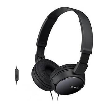 Sony MDR-ZX110APB Siyah Kulaküstü Mikrofonlu Kulaklýk