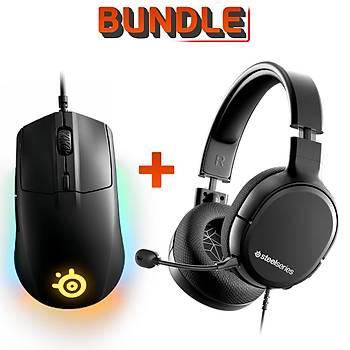 SteelSeries Arctis 1 Kablolu Oyuncu Kulaklığı + SteelSeries Rival 3 Mouse