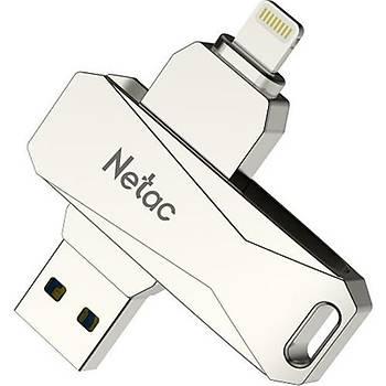 Netac U652-64G USB Drive 64GB Lightning + USB 3.0 Flash Bellek