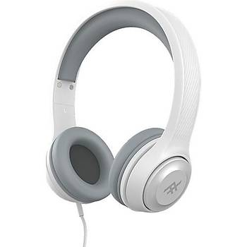 iFrogz Aurora Mikrofonlu Kulak Üstü Kablolu Kulaklýk - Beyaz