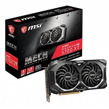 MSI Radeon RX 5700 XT MECH OC 8GB GDDR6 256 Bit Ekran Kartý
