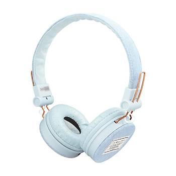 Trust 23610 Fyber Kulaküstü Kulaklýk Light Denim Beyaz