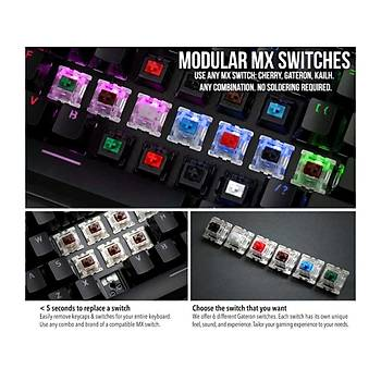 Glorious Modüler RGB Mekanik Gaming Klavye Brown Switch - Ýngilizce