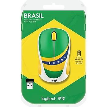Logitech M238 Fan Collection - Brasil Wireless Mouse