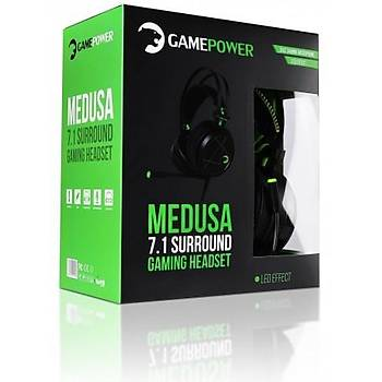 Gamepower Medusa Siyah 7.1 Gaming Kulaklık