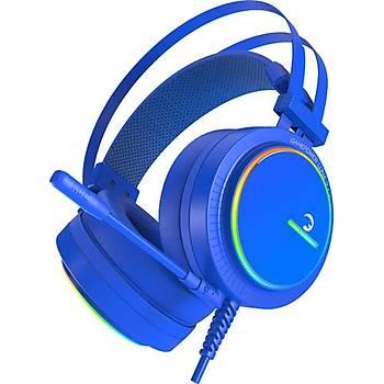 Gamepower Luna Mavi 7.1 Surround RGB Oyuncu Kulaklýk