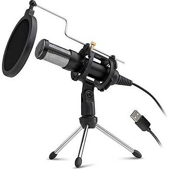 Dexim DMK7722 Elite PC/Laptop Professinonal Streaming USB Mikrofon Siyah