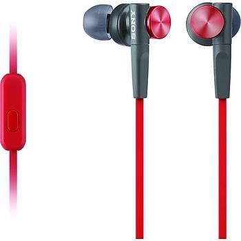 Sony Mdr-XB50APR Ekstra Bas Mikrofonlu Kulak Ýçi Kulaklýk Kýrmýzý