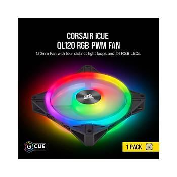 Corsair QL120 RGB 120 mm LED Fan Signle Pack Kasa Faný CO-9050097-WW