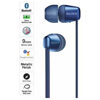 Sony WI-C310 Kablosuz Kulak İçi Bluetooth Kulaklık Mavi
