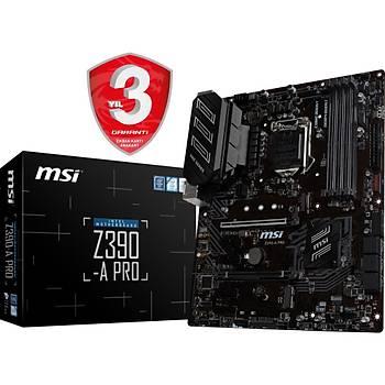 MSI Z390-A PRO SOKET 1151 DDR4 4400(OC) VGA DP M.2 USB3.1 ATX