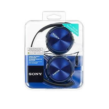 Sony MDR-ZX310AP Mikrofonlu Kulaküstü Kulaklýk Mavi Sony MDR-ZX310AP Mikrofonlu Kulaküstü Kulaklýk MAVÝ